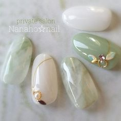 Pin by June Yang on Nails in 2020 Ongles Bling Bling, Bling Nails, Nail Swag, Dream Nails, Love Nails, Asian Nails, Asian Nail Art, Korean Nail Art, Nagel Bling