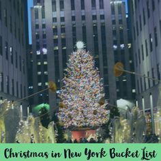 Must-dos when visiting New York City over the holidays. New York Christmas, Christmas Tree, New York Bucket List, Holiday Lights, Holiday Decor, Visit New York City, Time Of The Year, Holiday Festival, Holiday Destinations