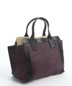 9e8d9afee8 Chloe purple pansy leather  Alison  tote bag Pansies