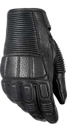 Highway 21 Trigger Gloves About Highway 21 Trigger Gloves Highway 21 pulled out the stops with their Trigger Gloves. A great looking goat skin leather glove with adjustable wrist closure. The gloves a Motorcycle Gloves, Biker Gloves, Gym Gloves, Biker Gear, Cafe Racer Build, 21 Men, Black Leather Gloves, Fitness Gifts, Riding Gear