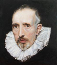 Art, Portrait. Replica. Cornelis van der Geest. Anthony van Dyck, National Gallery