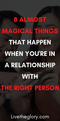 8 almost magical things that happen when you're in a relationship with the right person - Live the glory The Right Person Quotes, Right Person Wrong Time, The Right Man, Long Distance Boyfriend, Long Distance Love, Relationship Advice, Relationships, What Do Men Want, Meeting Someone