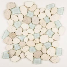 Sea Foam - Pebble Tile | Sea Glass Series | Natural Stone Mosaics – AquaBlu Mosaics