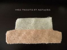 Easy slippers - My knits and tips - Chaussons faciles – Mes tricots et astuces Easy liner step garter stitch needle # 3 size months Point Mousse, Garter Stitch, Knitting For Beginners, Diy Fashion, Free Crochet, Slippers, Wool, Gilets, 3 Months