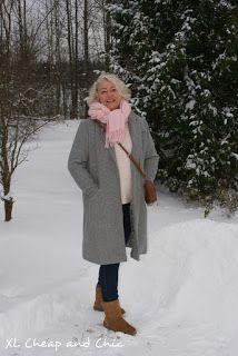 XL Cheap & Chic: Vaaleanpunaista harmaan kanssa - Pink with grey......