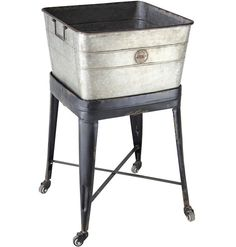Rolling Metal Tub | Metal Wash Tub