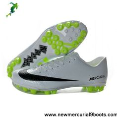 Buy Discount White Black Volt Nike Mercurial Veloce AG Football Shoes Shop