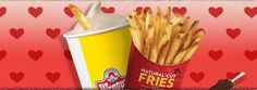 dipping fries in frosty