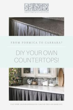 DIY your own kitchen counters with the IOD Carrara Decor Stamp! Watch as Lynne Brundage of Ellen J. Goods shows you how it's done!