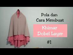 Pola dan Cara Menjahit Khimar Dobel Layer #1 (Teori dan Ilustrasi) - YouTube Muslim Fashion, Hijab Fashion, Fasion, Hijab Niqab, Mode Hijab, Sewing Tutorials, Sewing Patterns, Hijab Style Dress, Kebaya Dress