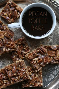 Low Carb Pecan Toffee Bars - grain-free and sugar-free