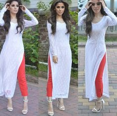 Designer Indian Salwar kameez Bollywood Anarkali Dress Pakistani Shalwar Suit US Ethnic Fashion, Asian Fashion, Look Fashion, Punjabi Fashion, Red Fashion, Fashion Women, Fashion Beauty, Fashion Trends, Salwar Designs