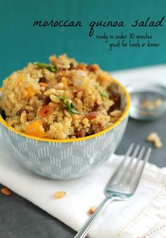 Moroccan Quinoa Salad (and a Laptop Lunches giveaway!) - ready in 30 minutes. Great for lunch or dinner!