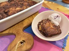 Get Chocolate Cobbler with Cherry Ice Cream Recipe from Food Network