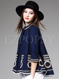 Shop for high quality Embroidery O-Neck Loose Blouse online at cheap prices and discover fashion at Ezpopsy.com