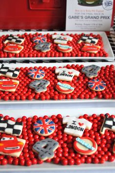 Awesome cookies at a Disney Cars birthday party!  See more party planning ideas at CatchMyParty.com!