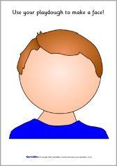 Faces playdough mats (SB1312) - SparkleBox