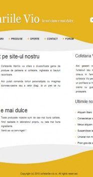 Website design pentru cofetariile VIO
