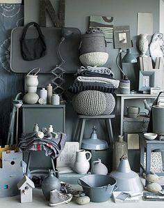 BRABBU <3 grey!    #grey #design #object #clutter #ambience #interior