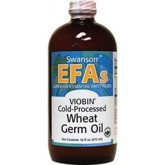Shop the best Swanson EFAs VIOBIN Cold Processed Wheat Germ Oil 16 fl oz Liquid products at Swanson Health Products. Trusted since we offer trusted quality and great value on Swanson EFAs VIOBIN Cold Processed Wheat Germ Oil 16 fl oz Liquid products. Great Lakes Gelatin, Supplements For Hair Loss, E 38, Wheat Germ, Essential Fatty Acids, Calorie Diet, Saturated Fat, Organic Recipes, Vitamin E