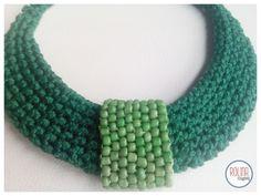 Beading_collar tejido con mostacillas. by www.facebook.com/Rolina.easygoing