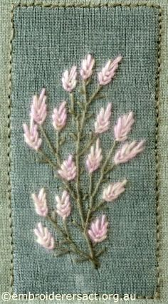 Pale Pink Flowers. // I COULD DEFINITELY SEE THIS ON THE CORNER OF AN AFGHAN! A