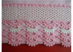 crochet and tating - Yahoo Image Search Results Crochet Boarders, Crochet Edging Patterns, Crochet Lace Edging, Crochet Diagram, Thread Crochet, Filet Crochet, Baby Knitting Patterns, Crochet Doilies, Crochet Stitches