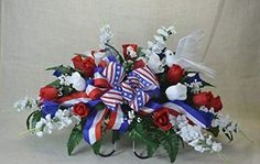 A Flower and Grave Flowers, Cemetery Flowers, Funeral Flowers, Silk Flowers, Cemetery Vases, Flowers Nature, Funeral Floral Arrangements, Artificial Flower Arrangements, Vase Arrangements