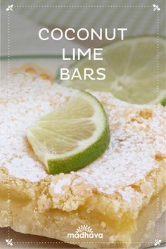Coconut Lime Bars | Madhava
