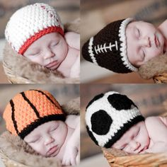 Looking for your next project? You're going to love 4 Pack of Sports Hats (all sizes) by designer Boomer Beanies. - via @Craftsy