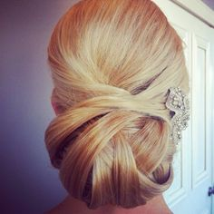Add some hair jewelry to add a hint of sparkle to a polished updo