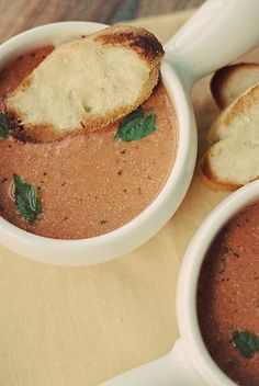 Tomato Basil Soup by eat yourself skinny  Looks so good must make with grilled cheese!