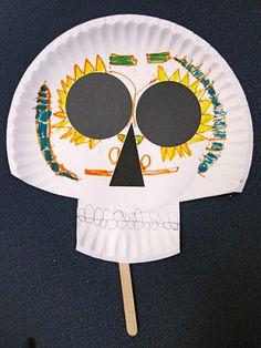 Jackson's Art Room: El Dia de los Muertos Masks