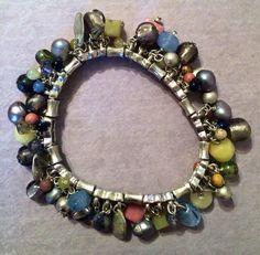 Chunky charm bracelet by SharpSellers on Etsy