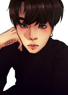 Suga / 슈가 beautiful fanart by Envy. Min Yoongi / 민윤기 . BTS / Bangtan Boys / 방탄소년단
