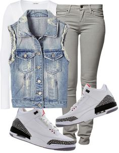 """That Jordan Girl"" by fashionsetstyler ❤ liked on Polyvore"