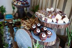 Look Whoo's Turning One! 1st Birthday, Woodland Owl Party - Kara's Party Ideas - The Place for All Things Party