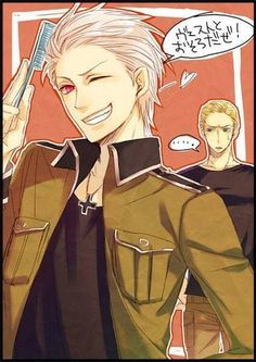 Prussia...Yep, he still is more awesome than Germany! :D #Hetalia