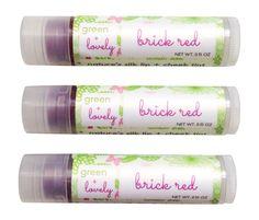 BRICK RED, Nature's {Organic} Silk Lip + Cheek Tint. Botanical Natural Sheer Tint. Silky. Shea Dewy Lip Butter. Alkanet. Eco friendly.