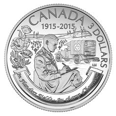 Fine Silver Coin – Anniversary of emIn Flanders Fields/em canada Canadian Coins, Canadian History, Mint Coins, Silver Coins, Battle Of Ypres, Flanders Field, Remembrance Day, Effigy, Famous Poems