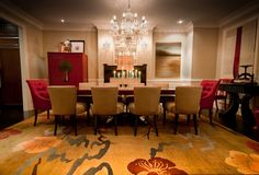 Dining Room Table With Upholestered Chairs Design, Pictures, Remodel, Decor and Ideas