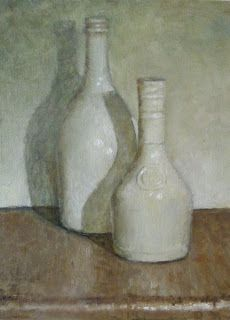Bottles. Giorgio Morandi (1890 – 1964) was an Italian painter and printmaker who specialized in still life. His paintings are noted for their tonal subtlety in depicting apparently simple subjects, which were limited mainly to vases, bottles, bowls, flowers and landscapes.