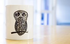 Mug with owl print created by Maria Christina Heidemann. Click on the link to go shopping!