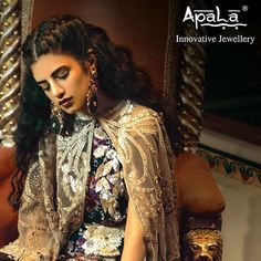 Embellish your wedding Cocktail/Mehendi occasion in these bold & enthralling earrings from Apala by Sumit featuring a unique design to add symmetry & grace to your bridal look. Image Courtesy:  #Featured #BridalCollection #WeddingJewellery #ApalaBride #Earrings #Jewellery #Brides #BridalJewellery #WeddingCollection #indianwedding #weddingseason #Ethnic #Contemporary #Modern #Fashion #like #comment #follow #repost #doubletap #tags #design #Innovative #wedding #bold #black...