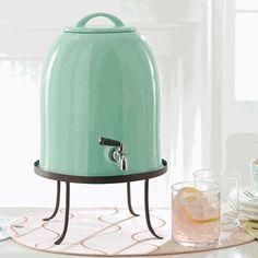Bell shaped drink dispenser & stand