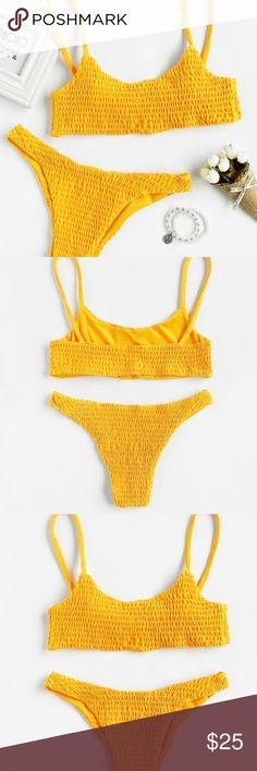 Push Up Shirred Bikini Set this swim suit has no padding. Never been worn. Swim Bikinis