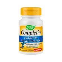 Completia® Diabetic Multi-Vitamin (fara fier), 30 tab
