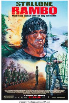 Rambo poster, t-shirt, mouse pad Most Popular Movies, Great Movies, Hero Movie, Movie Tv, Stallone Movies, Silvester Stallone, Film Poster Design, War Film, S Pic