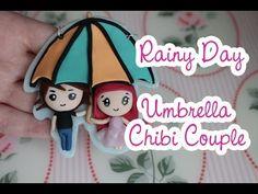 Umbrella Chibi Couple polymer clay tutorial