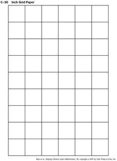 Graph Paper  Per Page Grid   Inch Squares  X Boxes  King